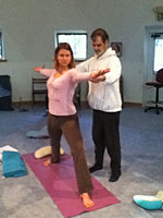 Uddhava Teaching Yoga Asanas